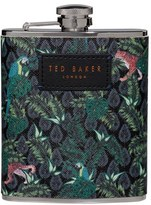 Ted Baker Wild And Wolf X Jungle Print Hip Flask