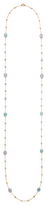 Marco Bicego 18K Yellow Gold Long Necklace with 2 Stones & Diamond