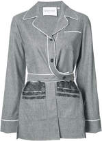 Vionnet buttoned lace embellished blouse