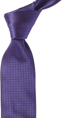 Canali Purple Grid Silk Tie
