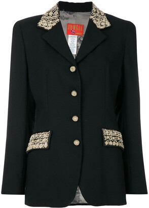 Kenzo Pre-Owned bead embroidered detailed jacket