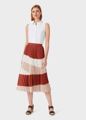 Hobbs Sleeveless Vic Cotton Blend Shirt