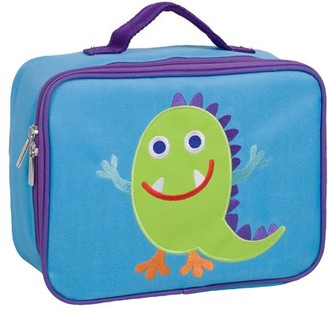 Olive Kids Monsters Embroidered Insulated Lunch Box for Boys and Girls