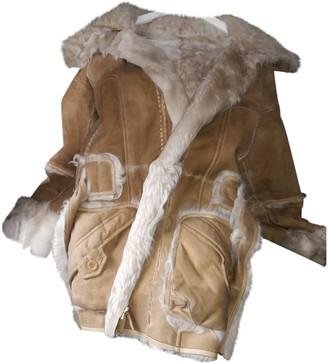 Joseph Beige Fur Coat for Women