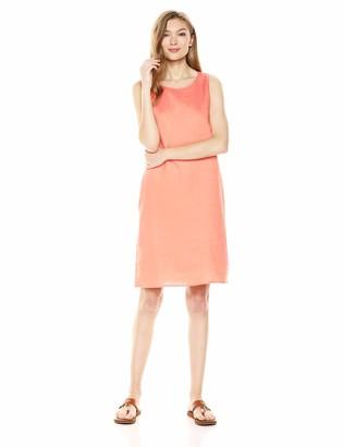 28 Palms Women's 100% Linen Sleeveless Shift Dress