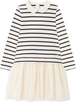 Petit Bateau Striped bi-material dress