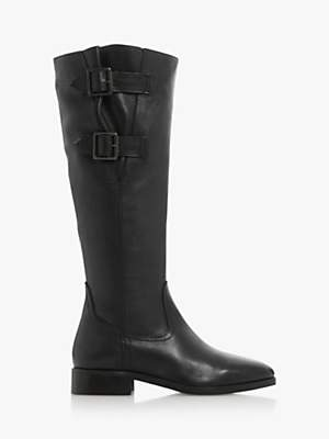 Dune Thea Leather Knee Boots
