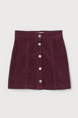 H&M A-line Twill Skirt