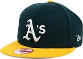 New Era Oakland Athletics MLB 2 Tone Link 9FIFTY Snapback Cap