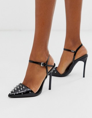 London Rebel stud stiletto high heels