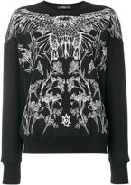 Alexander McQueen embroidered sweatshirt - women - Cotton - 36