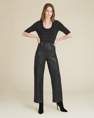 Veronica Beard Brinley High-Rise Coated Trouser