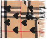 Burberry heart print scarf