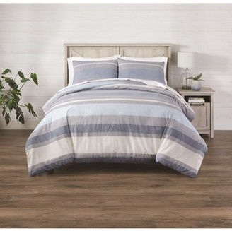 Better Homes & Gardens 3-Piece King Bold Blue Stripe Comforter Set