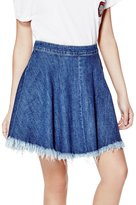 GUESS Denim Skater Skirt in Conway Wash