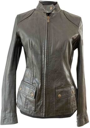 Belstaff Black Leather Leather Jacket for Women