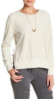 Pam & Gela Side Split Lace Back Sweatshirt