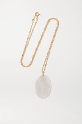 Cvc Stones Penta 18-karat Gold, Stone And Diamond Necklace - one size