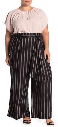 Rachel Roy Naida Stripe Print Wrap Pants (Plus Size)