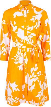 Carolina Herrera Abstract Floral Print Shirtdress