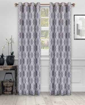 """Superior Soft Quality Woven, Ribbon Collection Blackout Thermal Grommet Curtain Panel Pair, Set of 2, 52"""" x 108"""""""