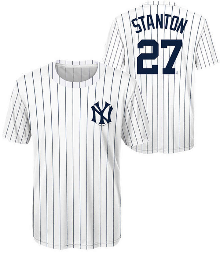the latest 50e38 2ea32 Outerstuff Giancarlo Stanton Coop Poly Player T-Shirt, Big Boys (8-20)