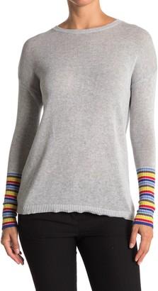 Kier & J Rainbow Stripe Sleeve Pullover