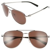 Salvatore Ferragamo Men's Gancio 60Mm Aviator Sunglasses - Gold