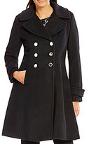 Ivanka Trump Wool Double Breasted Fit-and-Flare Peacoat