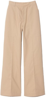 Co Patch Pocket Trousers in Taupe