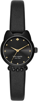 Kate Spade Women Cat Face Black Strap Watch 26mm