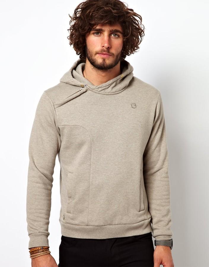 G Star G-Star Hooded Sweatshirt Tyus Asymetric Zip