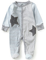 Mud Pie Baby Boys Newborn-9 Months Striped Star-Appliqued Footed Coverall