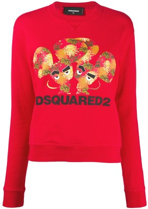 DSQUARED2 Mouse-Print Crew-Neck Sweatshirt