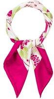 Burberry Floral Printed Silk Scarf