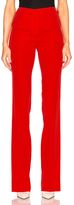 Thierry Mugler Fitted Cady Trousers in Red.