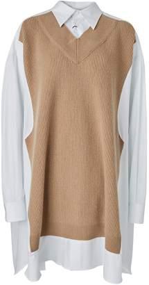 Maison Margiela Knit panel shirt