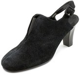 Aerosoles Role_back Women Round Toe Suede Black Slingback Heel.