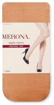 Merona Women's Premium Control Top Tights Nude Sparkle Sheer