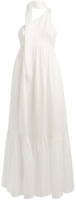 Zimmermann Juliette Tie-Neck Maxi Dress