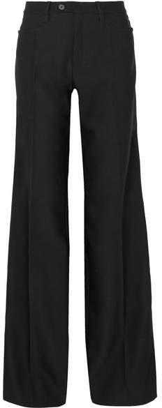 Chloé Wool-blend Wide-leg Pants - Black