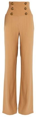 Balmain Corset Wide-Leg Trousers