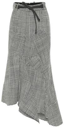 Tom Ford Asymmetric houndstooth virgin wool skirt
