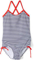Kanu Surf Navy Stripe Bali One-Piece - Toddler & Girls