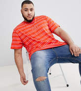 Puma Plus Striped T-Shirt In Red Exclusive To Asos