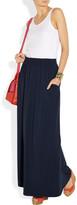 Splendid Two-tone stretch-jersey maxi dress