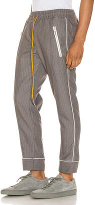 Rhude Smoking Pant in Grey & White | FWRD