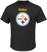 Profile Men's Pittsburgh Steelers Basic Logo Performance Big & Tall T-Shirt