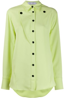 Proenza Schouler White Label Straight Button-Down Shirt