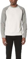 Theory Veton Axis Terry Raglan Crew Sweatshirt